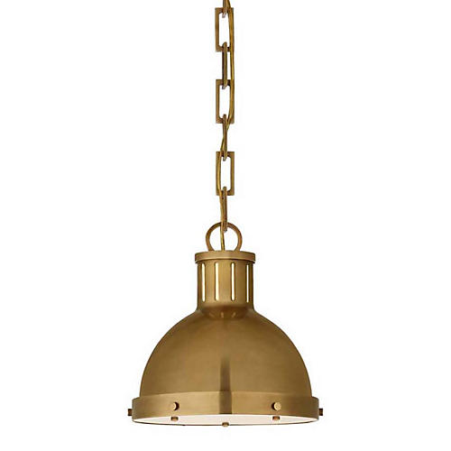 Hicks Pendant, Hand-Rubbed Antiqued Brass