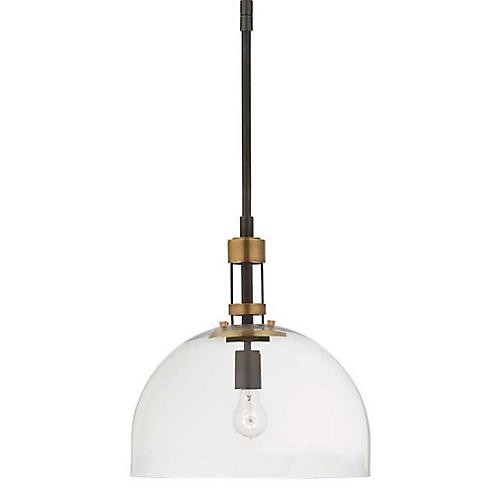 Gable Dome Pendant, Bronze/Antiqued Brass