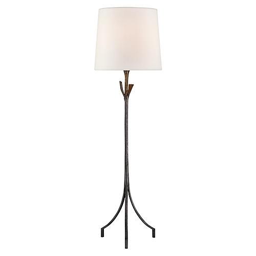 Fliana Floor Lamp, Aged Iron