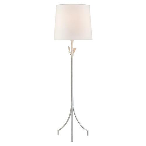 Fliana Floor Lamp, Plaster White