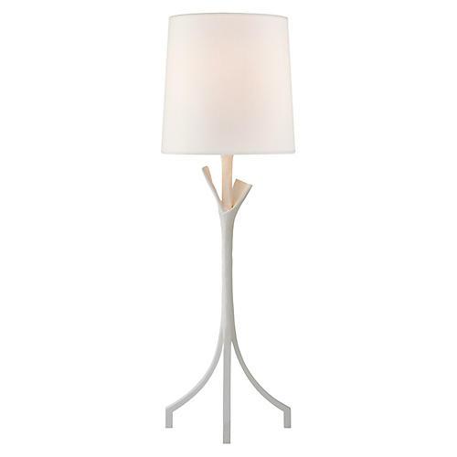 Fliana Table Lamp, Plaster White