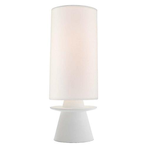Livia Small Table Lamp, Plaster White