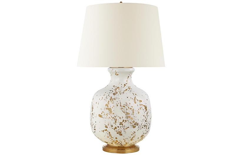 Buatta Large Table Lamp, Gold Splatter