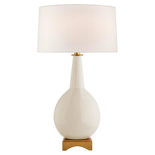 Antoine Table Lamp, Ivory