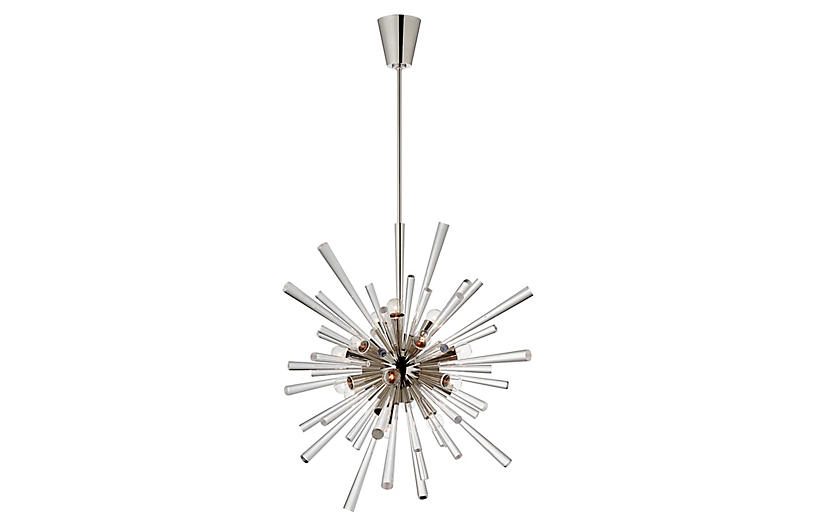 Chiara Chandelier, Polished Nickel