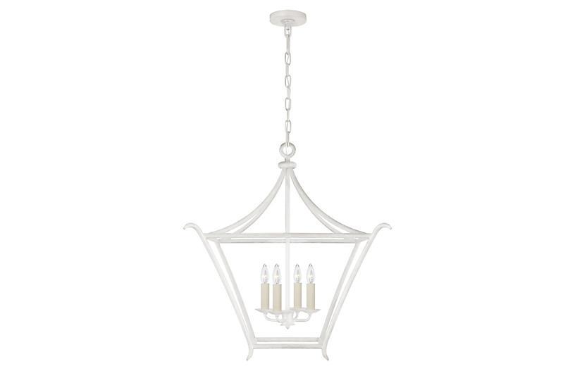 Aria Square Lantern, Plaster White