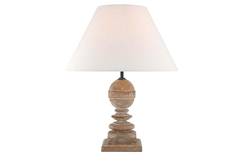 Piaf Table Lamp, Blonde Cerused Oak