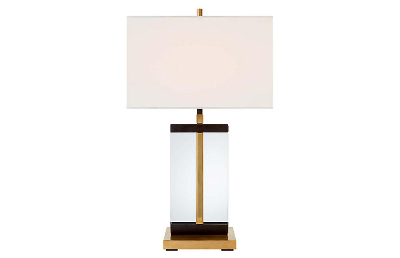 Cannes Table Lamp with Linen Shade