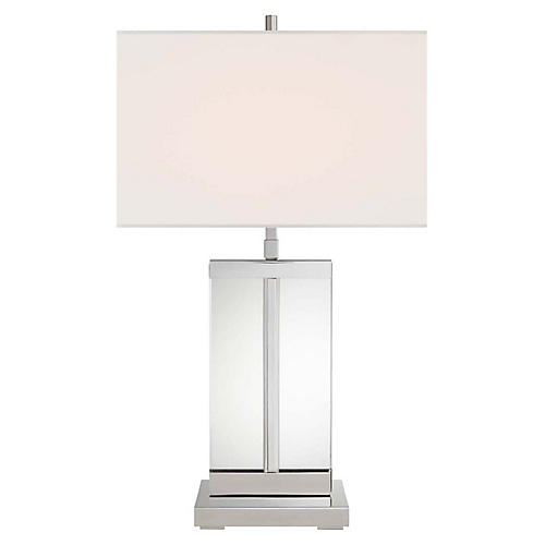 Porto Table Lamp, Polished Nickel