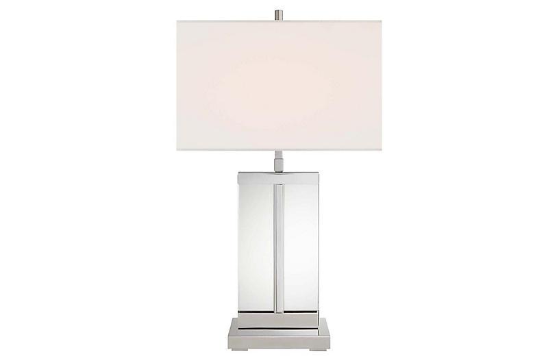 Porto Table Lamp, Polished Nickel