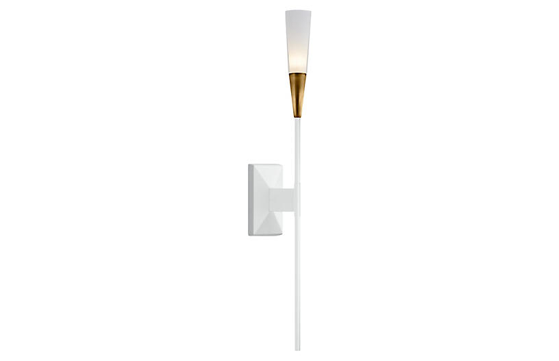 Stellar Tail Sconce, Matte White