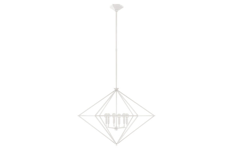 Afton Lantern, Plaster White