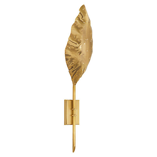 Dumaine Sconce, Antique-Burnished Brass