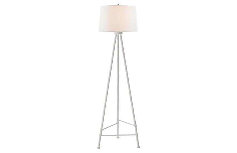 Lafitte Floor Lamp, Plaster White