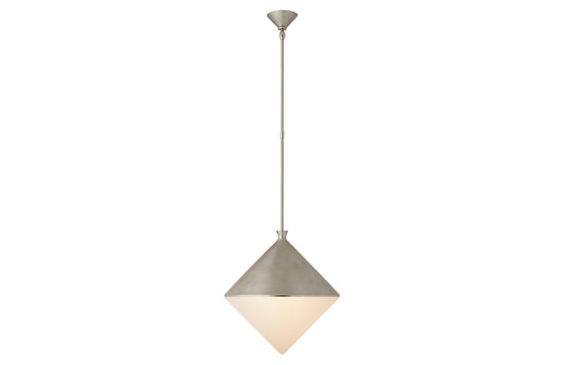 Sarnen Pendant, Burnished Silver Leaf