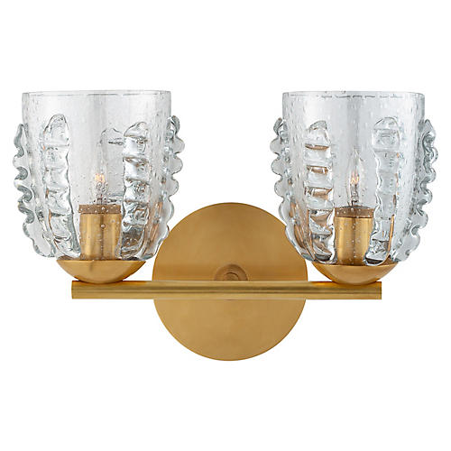 Gisela Sconce, Hand-Rubbed Antique Brass