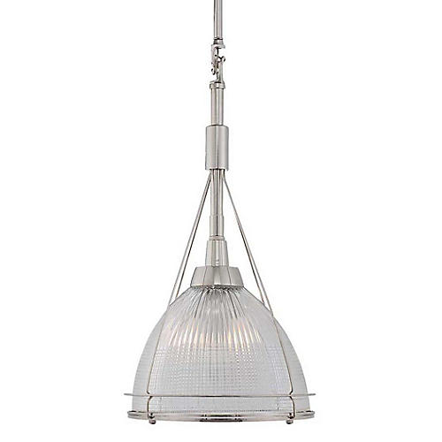 Harris Pendant, Polished Nickel/Clear
