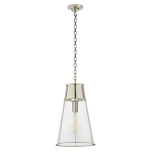 Robinson Pendant, Polished Nickel