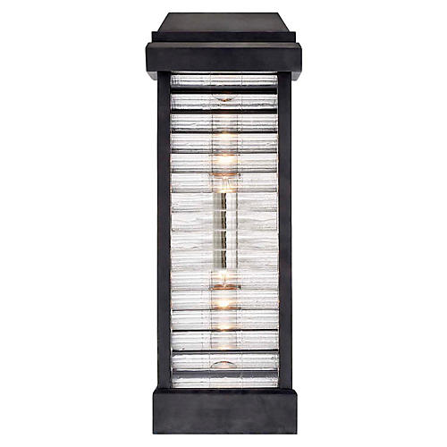 Dunmore Tall Outdoor Sconce, Bronze