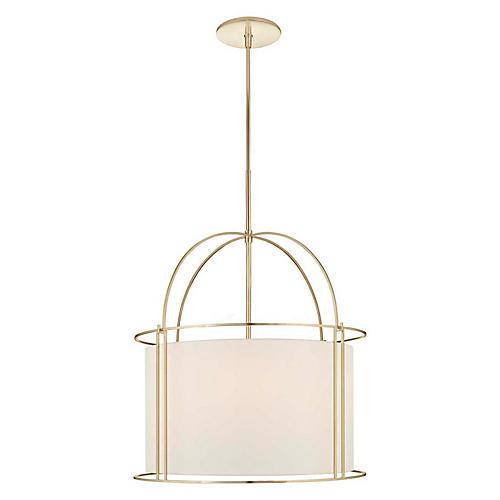 Capital Wide Lantern, Soft Brass
