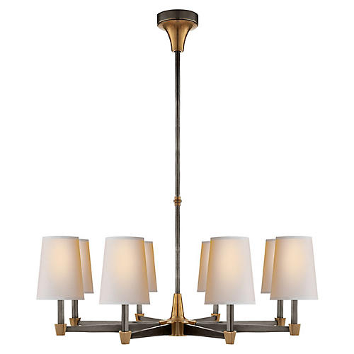 Caron Chandelier, Bronze/Antiqued Brass