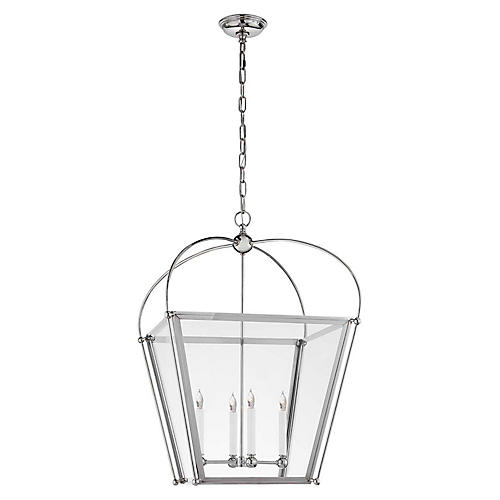 Plantation Small Lantern, Polished Nickel