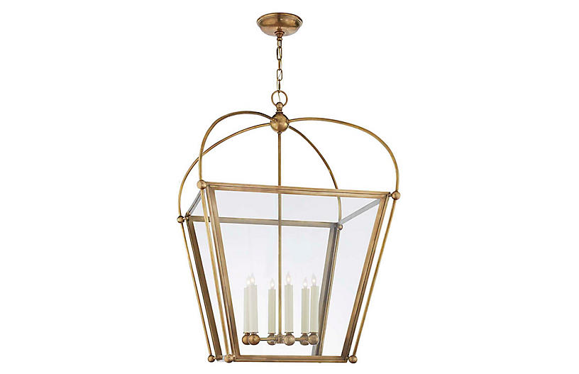 Bryn Large Lantern, Burnished Brass