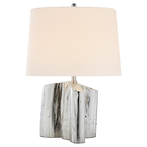 Carmel Table Lamp, Burnished Silver