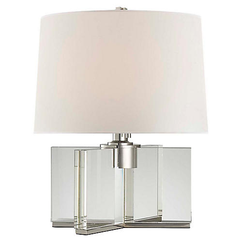 Felix Accent Lamp, Crystal/Nickel