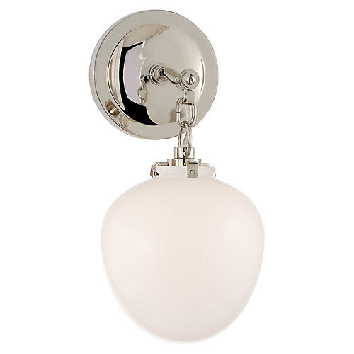 Katie Acorn Sconce, Polished Nickel