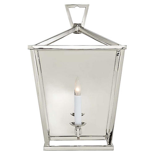 Darlana Lantern Sconce, Polished Nickel