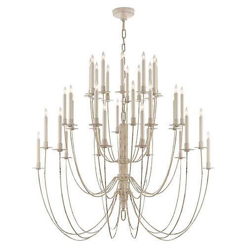 Erika 3-Tier Chandelier, Belgian White