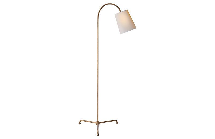 Mia Floor Lamp, Gilded Iron