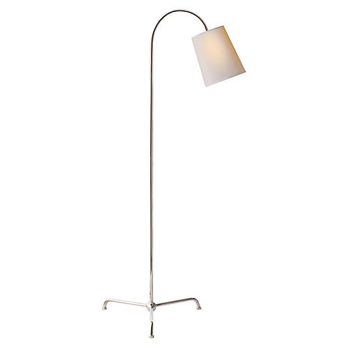 Mia Floor Lamp, Nickel