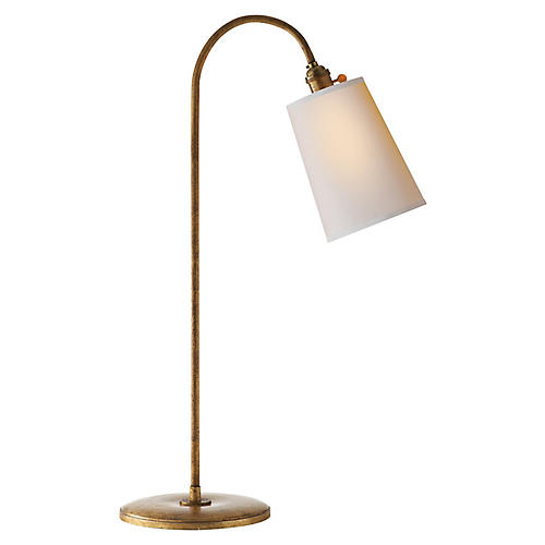 Mia Table Lamp, Gilded Iron