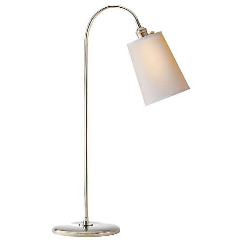 Mia Table Lamp, Polished Nickel