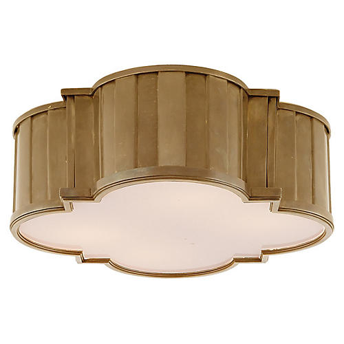Tiden Flush Mount, Brass