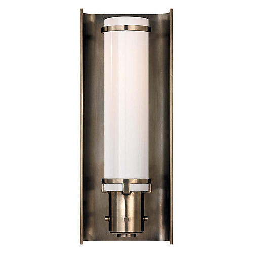 Greenwich Sconce, Antiqued Nickel