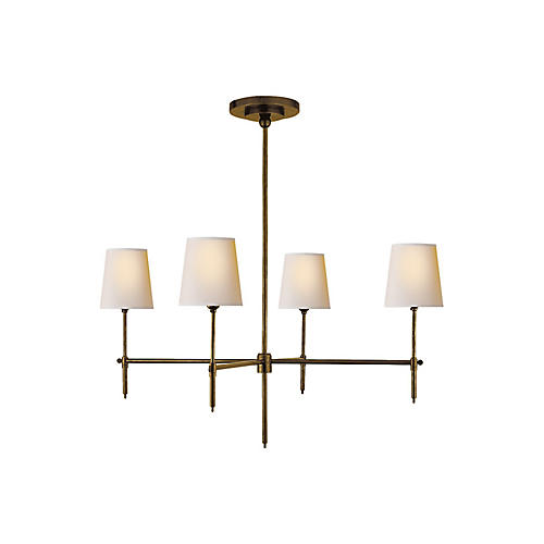 Bryant Chandelier, Brass