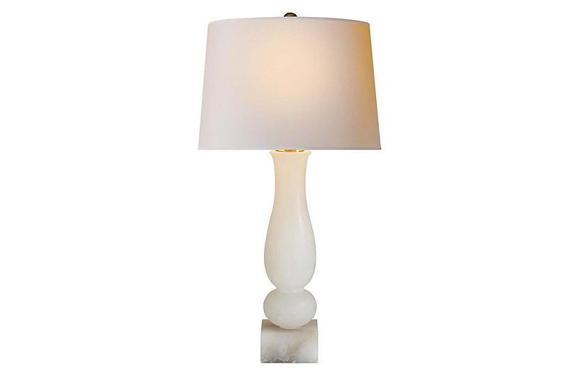 Balustrade Contemporary Table Lamp, Natural