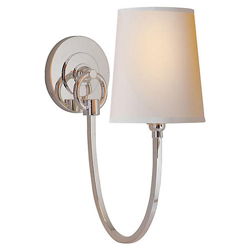 Reed Sconce, Polished Nickel