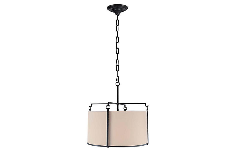 Aspen Large Hanging Shade, Black Rust