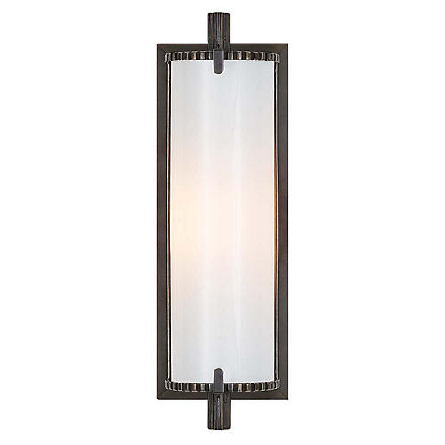 Calliope Short Bath Sconce, Bronze