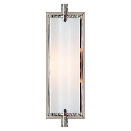 Calliope Short Bath Sconce, Polished Nickel