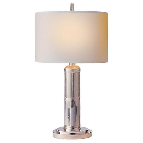 Longacre Table Lamp, Polished Nickel