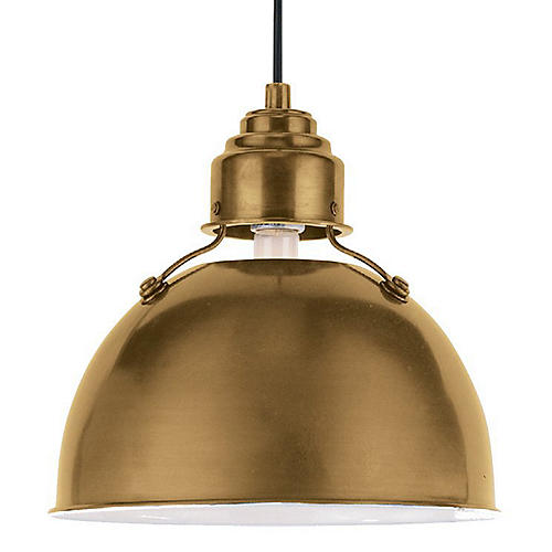 Eugene Pendant, Antiqued Brass