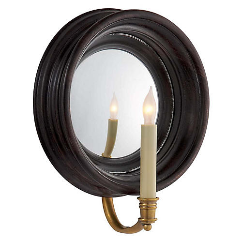 Chelsea Reflection Sconce, Tudor Brown