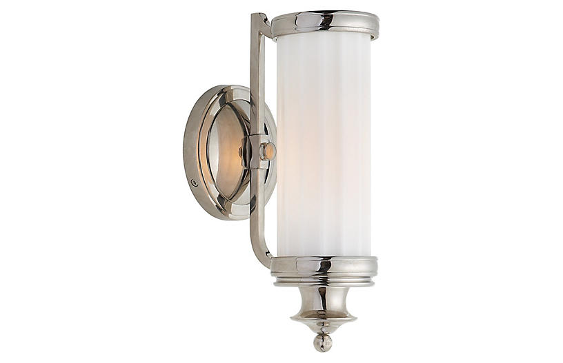 Milton Road Sconce, Polished Nickel