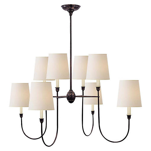 Vendome Chandelier, Bronze