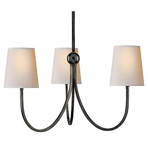 Reed 3-Light Chandelier, Bronze